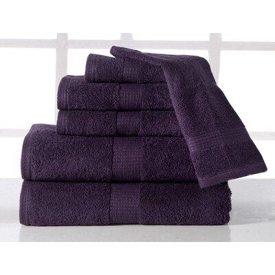 Farnworth Plush 6 Piece Towel Set Color: Plum