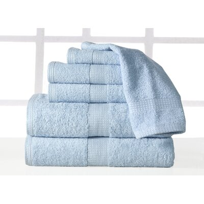 Guillaume Plush 6 Piece Towel Set Color: Blue