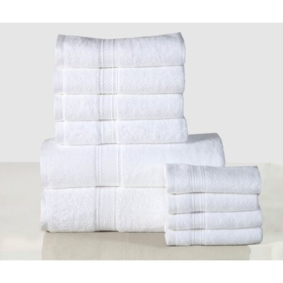 10 Piece Towel Set Color: White