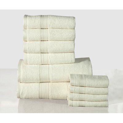 10 Piece Towel Set Color: Ivory