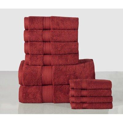 10 Piece Towel Set Color: Biking Red