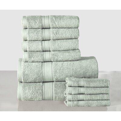 10 Piece Towel Set Color: Jade