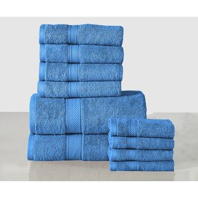 10 Piece Towel Set Color: Sea Blue