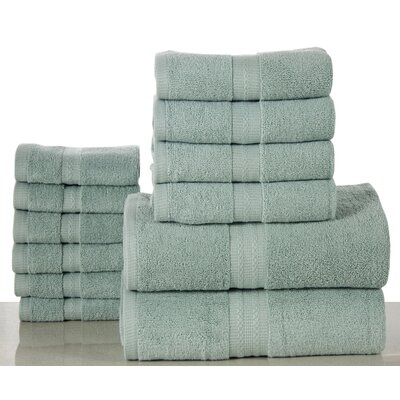 Woolf 12 Piece Towel Set Color: Surf