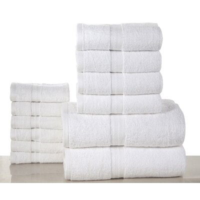 Woolf 12 Piece Towel Set Color: white