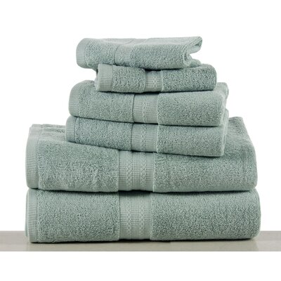 Woolf 6 Piece Towel Set Color: Surf