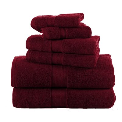 Woolf 6 Piece Towel Set Color: Biking Red