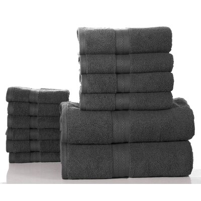 Elegance Spa 12 Piece Towel Set Color: Gray