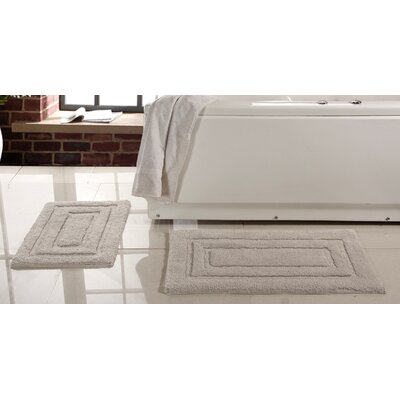 Lucinda 2 Piece Soft Cotton Bath Rug Set Color: Beige