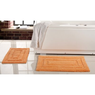 Lucinda 2 Piece Soft Cotton Bath Rug Set Color: Coral