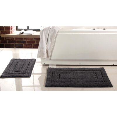 Lucinda 2 Piece Soft Cotton Bath Rug Set Color: Platinum