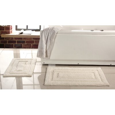 Lucinda 2 Piece Soft Cotton Bath Rug Set Color: Cream