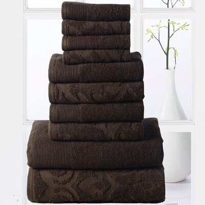 Sellersburg 10 Piece Towel Set Color: Chocolate