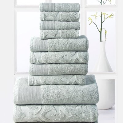 Sellersburg 10 Piece Towel Set Color: Jade