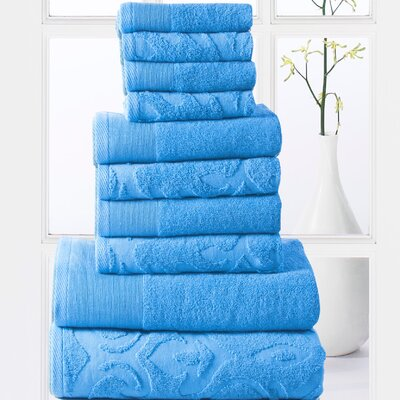 Sellersburg 10 Piece Towel Set Color: Sea Blue