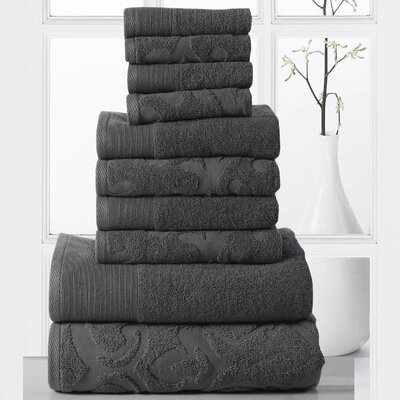 Sellersburg 10 Piece Towel Set Color: Grey