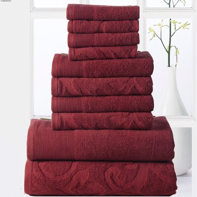 Sellersburg 10 Piece Towel Set Color: Biking Red