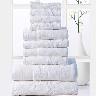 Sellersburg 10 Piece Towel Set Color: White