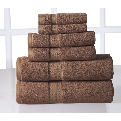 6 Piece Towel Set Color: Mocha