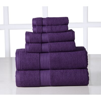 6 Piece Towel Set Color: Plum