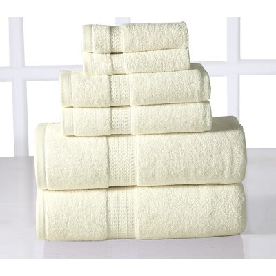 Parrella 6 Piece Towel Set Color: Ivory