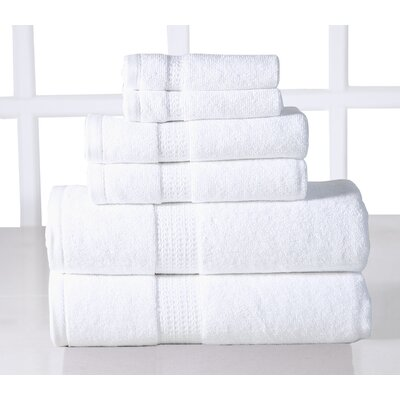 Parrella 6 Piece Towel Set Color: White