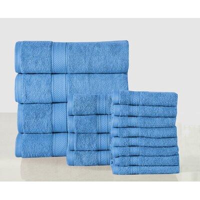 16 Piece Towel Set Color: Sea Blue