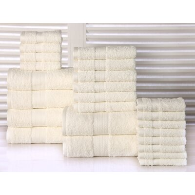 24 Piece Towel Set Color: Ivory