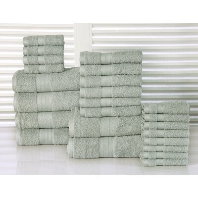 24 Piece Towel Set Color: Jade