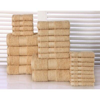 24 Piece Towel Set Color: Beige
