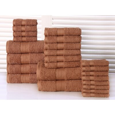 24 Piece Towel Set Color: Mocha