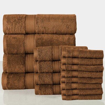 16 Piece Towel Set Color: Mocha