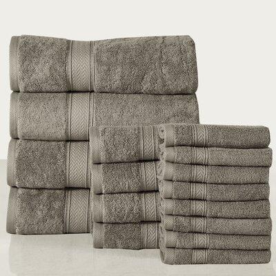 16 Piece Towel Set Color: Platinum