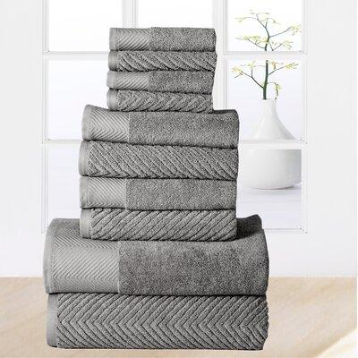 Woolf 10 Piece Towel Set Color: Platinum