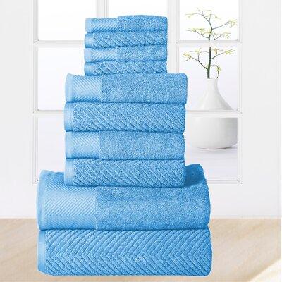 Elegance Spa 10 Piece Towel Set Color: Sea Blue