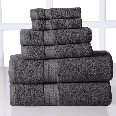 Parrella 6 Piece Towel Set Color: Gray