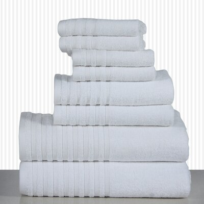 600 GSM Egyptian Quality Cotton 8 Piece Towel Set Color: White