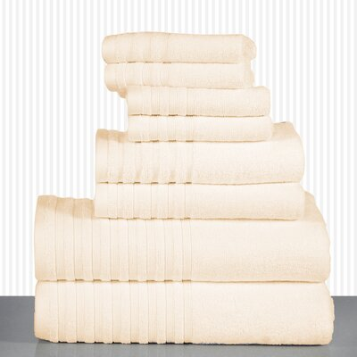 600 GSM Egyptian Quality Cotton 8 Piece Towel Set Color: Linen