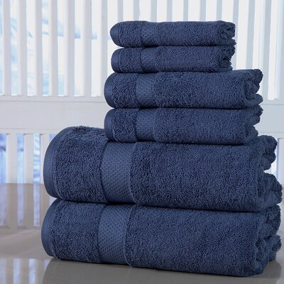 Luxurious 6 Piece Towel Set Color: Blue Stone