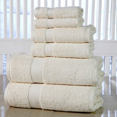Luxurious 6 Piece Towel Set Color: Ivory