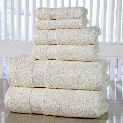 Luxurious 6 Piece Towel Set Color: Ivory