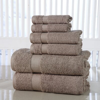 Luxurious 6 Piece Towel Set Color: Taupe