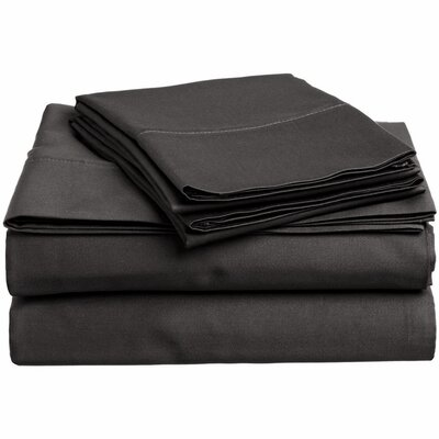 300 Thread Count 100% Cotton Sheet Set Color: Grey, Size: Queen