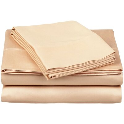 300 Thread Count 100% Cotton Sheet Set Color: Beige, Size: Queen