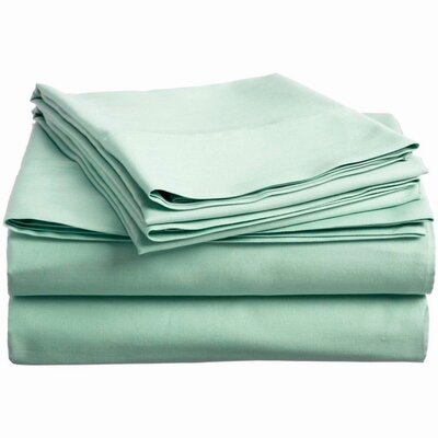 300 Thread Count 100% Cotton Sheet Set Color: Aqua, Size: Full