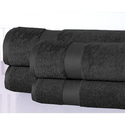 Oversized Luxurious Bath Sheet Color: Charcoal