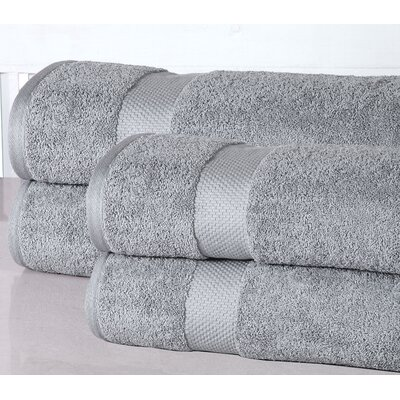 Oversized Luxurious Bath Sheet Color: Silver Gray
