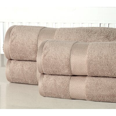 Oversized Luxurious Cotton Bath Sheet Color: Taupe