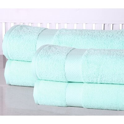 Oversized Luxurious Cotton Bath Sheet Color: Aqua