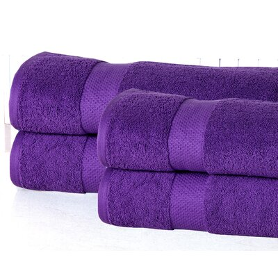 Oversized Luxurious Bath Sheet Color: Royal Purple